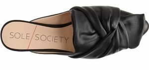 Sole Society Black Pear Mule Sandal Size 8M
